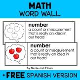 Math Word Wall Vocabulary