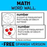 Math Word Wall Vocabulary