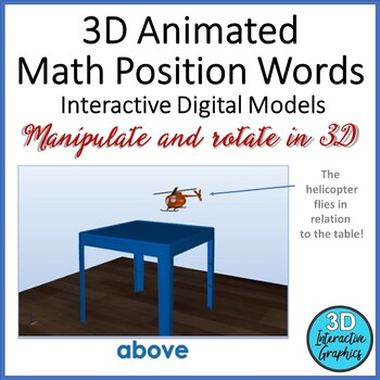 Math Position Words -  Interactive 3D Models for Whiteboar