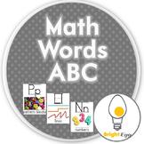 Math Words Alphabet Banner