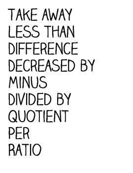 Math Words Graphic Organizer & Activity