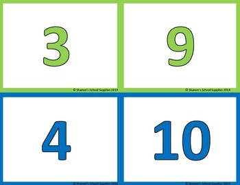 Math Words, Numbers, and Pictures Classroom Signs