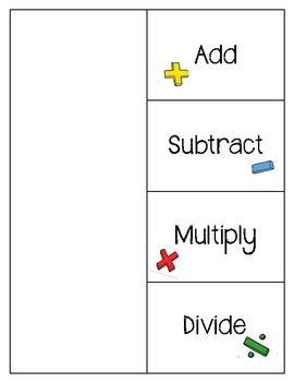 Math Words Spinner and Flapbook