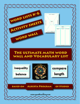 Math Words: Word Wall and Vocabulary Activities Pack