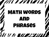 Math Words and Phrases