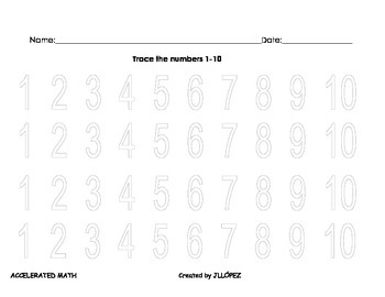 Math Work Activities for Kinder or First Grade