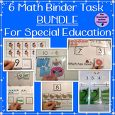 Math Work Binder Bundle for Autism and Special Education (