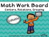 Math Work Board~Can be used for centers, rotations, and gr