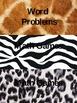 Math Work Board in Animal Print