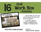 Math Work Box Activities
