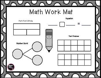 Math Work Mat Black & White