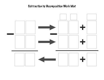 Math Work Mat - Subtraction