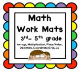 Math Work Mats 3rd-5th