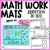 Math Work Mats - Addition to 100