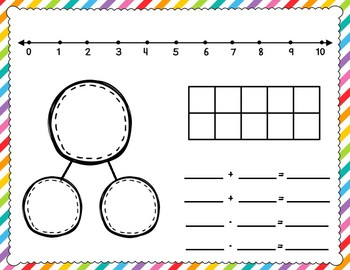 Math Work Mats for Common Core Math with Numbers 1-10 and 1-20