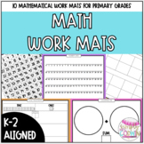 Math Work Mats for Primary Grades