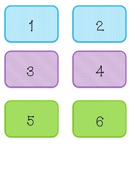 Math Work Stations Labels