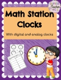 Math Work Station - Clocks