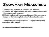 Math Work Station - Snowman Measure