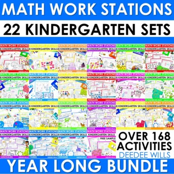 Math Centers and Math Stations BUNDLE