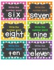 Math Work on Numbers Task Cards