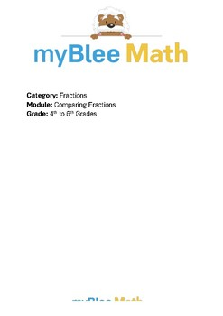 Math Workbook - Comparing Fractions - 4th to 6th Grades