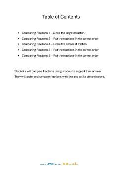 Fractions: Comparing Fractions Bundle