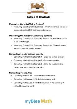 Math Workbook - Measuring Lengths - 4th Grade
