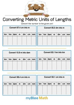 Math Workbook - Measuring Lengths - 5th Grade
