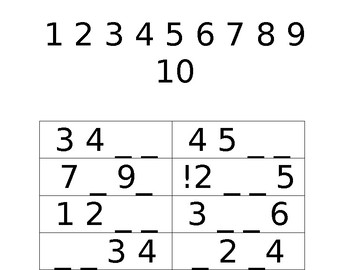 Math Workbook - Missing Numbers