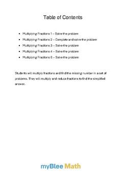 Fractions: Multiplying Fractions Bundle