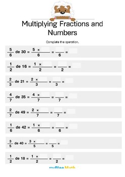 Fractions: Multiplying Fractions and Numbers Bundle