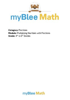 Math Workbook - Multiplying Fractions and Numbers - 4th to