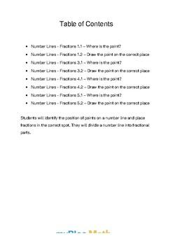 Fractions: Number Lines Bundle