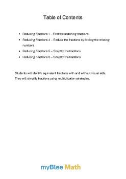 Fractions: Reducing Fractions Bundle