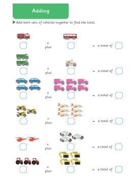 Math Workbook / Worksheets Grades 1 & 2
