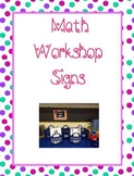 Math Workshop: Labels, I-Charts, and Magnetic Bulletin Board Ideas