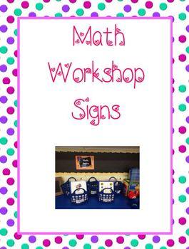 Math Workshop: Labels, I-Charts, and Magnetic Bulletin Boa