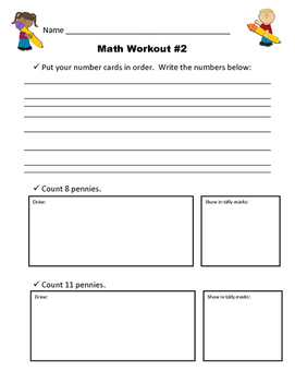 Math Workout Intervention: Lessons 1 - 20