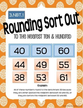 Math Works: 3.NBT.1 Rounding Sort Out