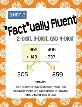 "Math Works: ""Fact""ually Fluent 3.NBT.2"