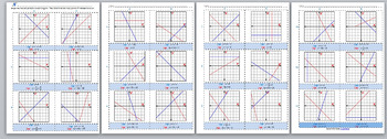 Math Worksheet 00113 - Determining graphically where two lines meet