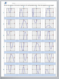 Math Worksheet 0024 - Equation of the axis of symmetry of