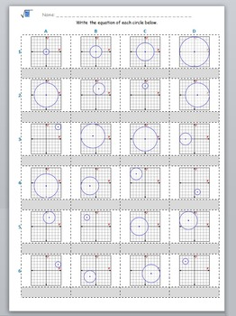 Math Worksheet 0027 - Equation of the circle