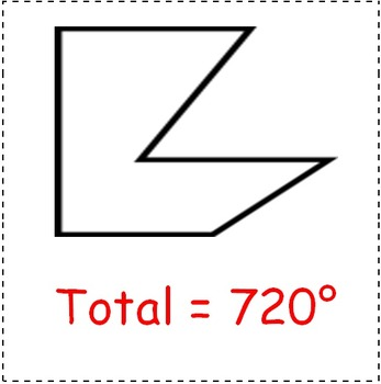 Math Worksheet 0029 - Total degrees in polygon