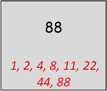Math Worksheet 0049 - List the factors worksheet