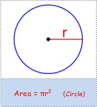 Math Worksheet 0055 - Area of different shapes