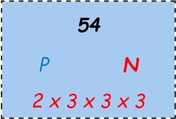 Math Worksheet 0071 - Prime number or not, with prime factorisation.