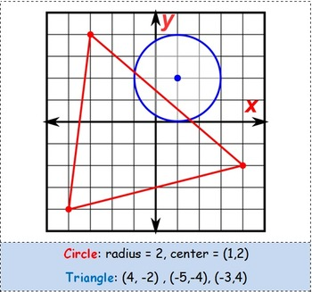 Math Worksheet 0076 - Intersection of triangle and  circle