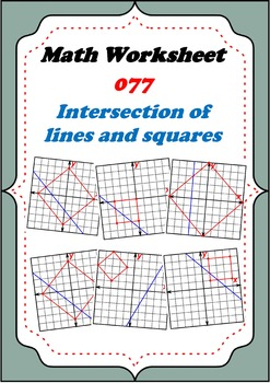 Math Worksheet 0077 - Graphs of intersection of a square a